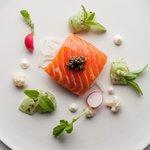 Confit Salmon Cucumber Horseradish