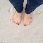 Toes in the softest sand EVER!