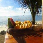 Fruit platter from the beach bar