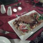 "16oz steak ""without"" the veg/potatoes"