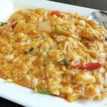 stir-fried crab meat with curry powder & eggs