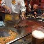 Preparing sumo steak