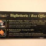 ボックスオフィスの案内板(Xが現在地、Bがオフィス)