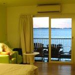 Room view towards balcony