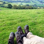Views from crows nest at luxury lodges wales