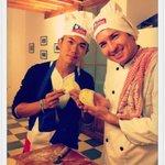 making empanadas in cooking class