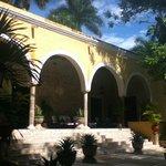 outside Hacienda Chichen