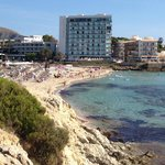 View of Hotel from other side of Son Moll beach