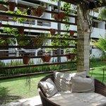 Área externa decorada e confortável!