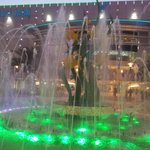 Front entrance fountain
