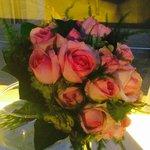 Bouquet de roses commandées