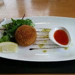 Starter - Crab Cake with Sweet Chillie Dip