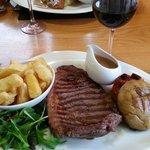 Main course - Sirloin Steak with Peppercorn Sauce