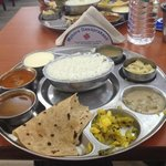south indian thali lunch