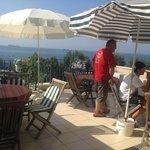 4th floor terrace for breakfast