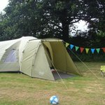 One of our tents... we had three on that pitch!