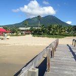 Volcano backdrop