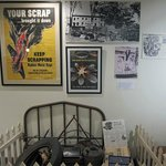 Scrap Drive exhibit in the Home Front room