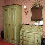Venetian furniture in the room