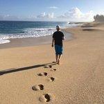 Morning walk on the beach