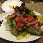 My Niçoise salad for dinner at the international restaurant