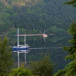 Loch Lochy from our bedroom window