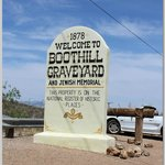 Boothill parking lot sign