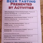 Beer tasting was fun and truly educational for me. I'm not a beer drinker. My daughter is. We ha