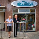 Tracey and Rose Tilley outside the Cafe.
