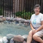 mineral hot springs directly next to hotel pool