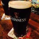 Of course when you are in an Irish pub...Guinness! Such a special taste!
