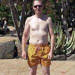 A bright resort deserves bright shorts