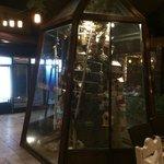 Bird cage in restaurant
