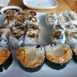 Very good sushi rolls.