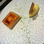 tartelette mangue/crème brulé, sorbet mangue