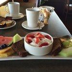 colazione con vista sul lago e sul tee della 1
