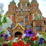 floral and cathedral