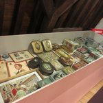Chocolate boxes with the pictures of famous people