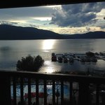 View from our room at the Lodge on Whitefish Lake
