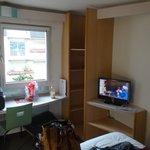 Samll closet and TV