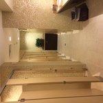Lobby bathroom stalls