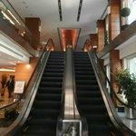 Escada rolante de acesso à receção