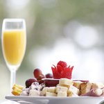 Enjoy our special fruit and cheese platter bayfron