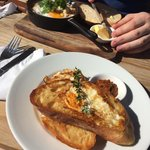 Pirate toad in a hole ($8.50) and the lamb shank Spanish eggs ($17)