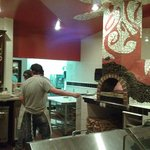 Woodfired pizza oven - where everything is cooked