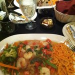 Grouper and sauteed shrimp (special)...