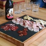 Yummy local charcuterie and beer