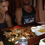 barbecued seafood platter