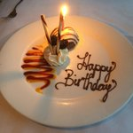A special birthday mousse that the Oppidan staff put together for me :)