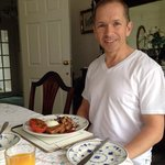 my smile says it all,amazing breakfast